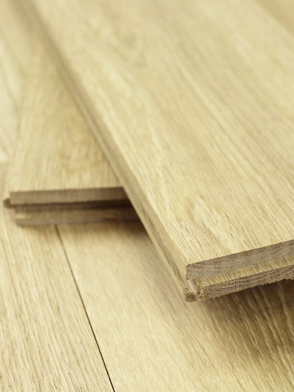 solid oak plank flooring